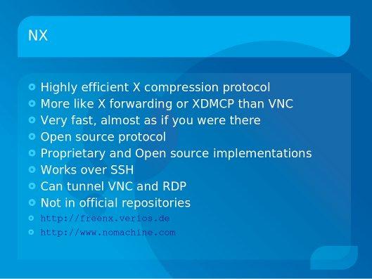 NX | KWLUG - Kitchener-Waterloo Linux User Group