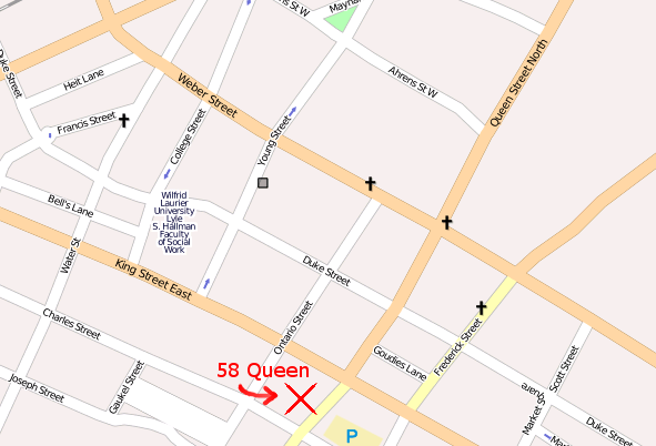 map of 58 Queen